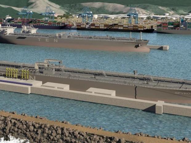 Projeto de como ficará o Terminal Ponta Negra em Maricá (Foto: Divulgação Terminal Ponta Negra)