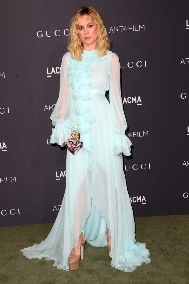 Brie Larson em evento em Los Angeles, nos Estados Unidos (Foto: Frederick M. Brown/ Getty Images/ AFP)