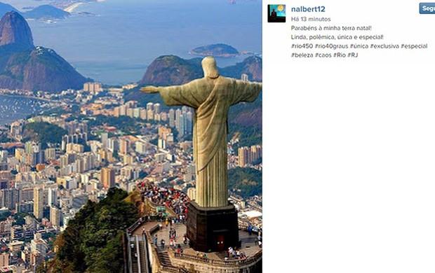 Nalbert homenagem ao Rio no Instagram