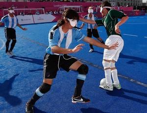 Brasil x Argentina, Futebol de 5, Paralimpíadas (Foto: Agência Reuters)