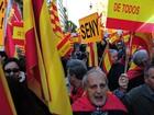 Milhares protestam em Madri e Barcelona por unidade da Espanha