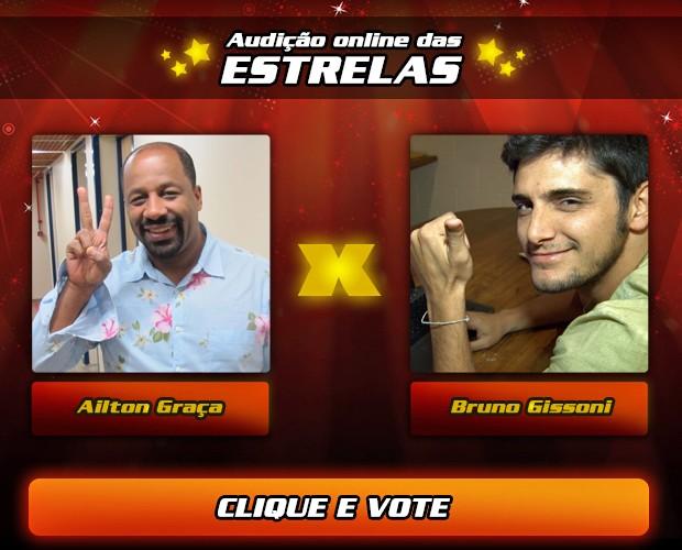 Audição das Estrelas - Ailton Graça e Bruno Gissoni (Foto: The Voice Brasil/  TV Globo)