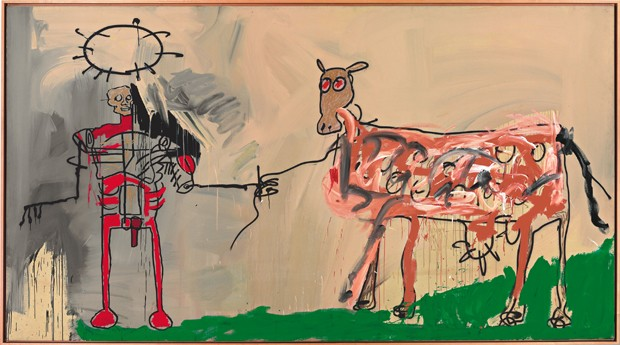 O campo próximo a outra estrada, de 1981. A obra estará na exposição do CCBB (Foto: © The Estate of Jean-Michel Basquiat. Licensed by Artestar, New York)