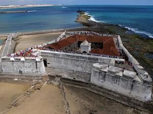 Fortaleza dos Reis Magos, na praia do Forte (Foto: Canindé Soares)