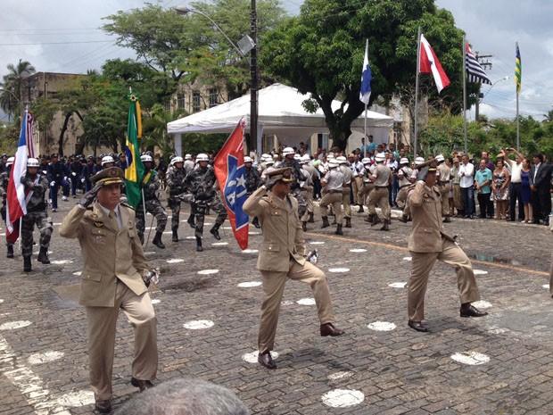 Polícia Militar realizou desfile após posse de novo comandante  (Foto: Ruan Melo/G1)