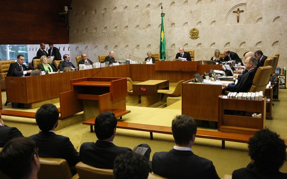 Ministros do Supremo Tribunal Federal (STF) julgam o rito do impeachment (Foto: Carlos Humberto/SCO/STF)
