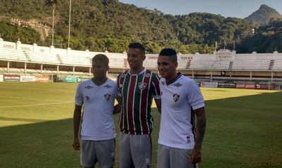 Maranhão, Dudu e William Matheus - Fluminense (Foto: Fred Huber/ Globoesporte.com)