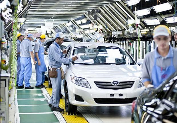 Fábrica da montadora Toyota no Brasil ; produção de carros ; veículos ;  (Foto: Divulgação)