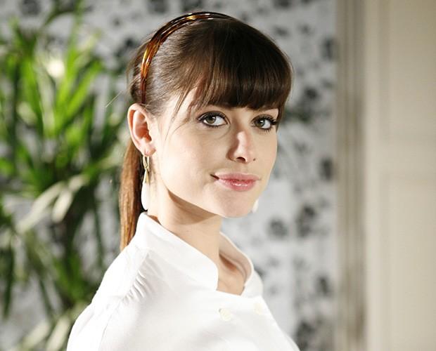 Silvia (Alinne Moraes) em 'Duas Caras' em 2008 (Foto: Fabício Mota)