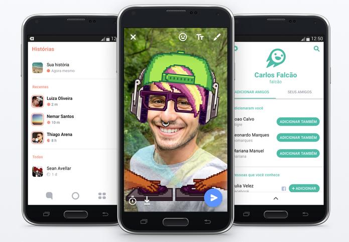 Flash é o novo aplicativo do Facebook parecido com o Snapchat (Foto: Divulgação/Facebook)