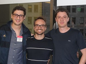 André Rodrigues (Moblee), Mateus Xavier (Winker) e Tiago Brandes (Meus Pedidos) participam do evento. (Foto: Dialleto Comunicação/Divulgação)
