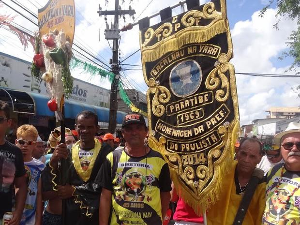 Desfile do Bacalhau na Vara (Foto: Simone Graf / G1)