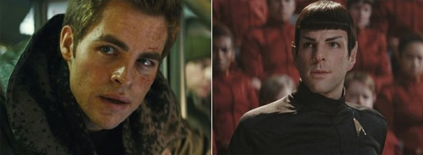 Chris Pine se inspirou em personagens de Harrison Ford; Zachary Quinto raspou totalmente as suas sobrancelhas (Foto: divulgação)