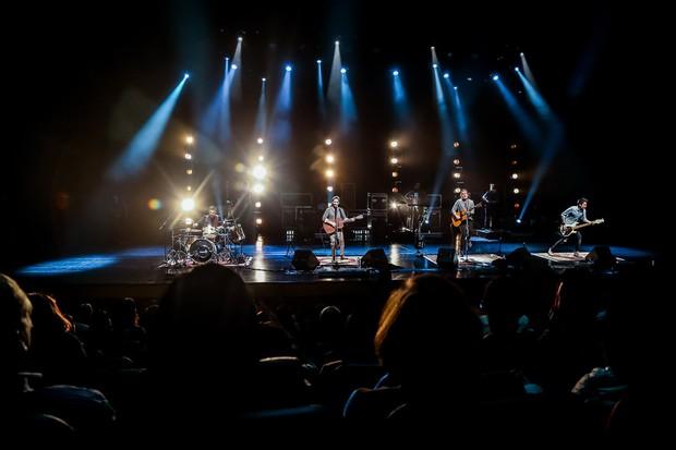 A banda Pagan John durante gravação do DVD (Foto: Manuela Scarpa/Brazil News)
