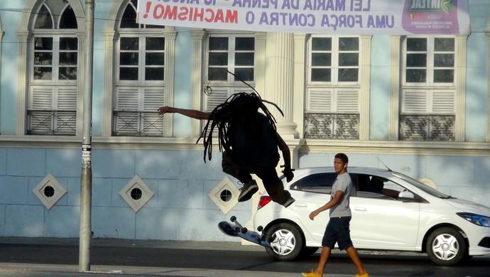 Cacheta skate al (Foto: Viviane Leão/GloboEsporte.com)