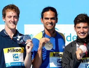 Orlando Duque, Gary Hunt, Jonathan Paredes,  Mundial de natação (Foto: Agência Reuters)