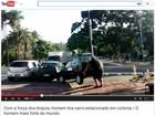 'Nunca vi uma pessoa tão folgada', diz homem que tirou Uno de ciclovia