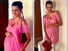 Fernanda Motta sobre gravidez: 'Olha o tamanho da minha barriga'