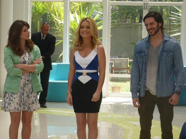 Pamela anuncia que Herval ficará à frente da Marra (Foto: Geração Brasil/TV Globo)