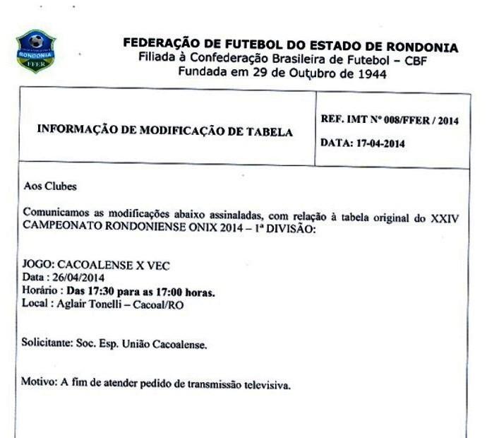 IMT (Foto: FFER/Divulgação)