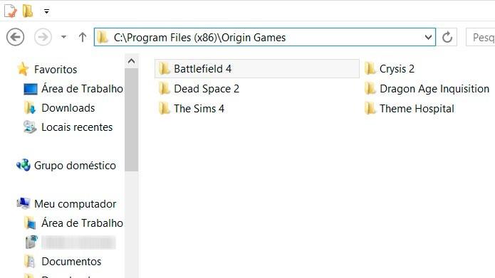 Faça uma cópia da pasta Origin Games ou do jogo que deseja transferir (Foto: Reprodução/Tais Carvalho)