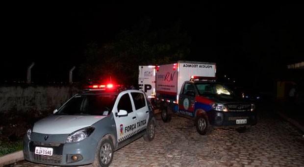 Noite e madrugada violentas no Rio Grande do Norte. Pelo menos 12 pessoas foram assassinadas (Foto: Marcelino Neto)
