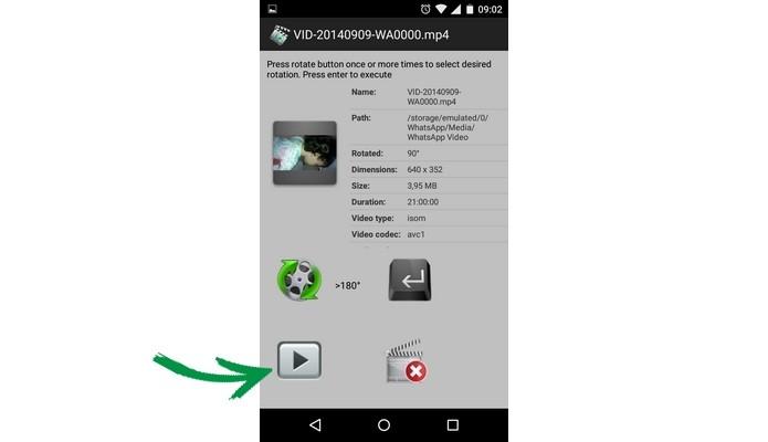 Como girar um vdeo no android conserte a gravao com fast video destaque para boto play que permite ver vdeo girado foto reproduo raquel ccuart Choice Image