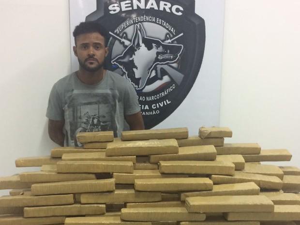 Senarc apreende 120 kg de maconha no interior do MA (Foto: Divulgação / Senarc)