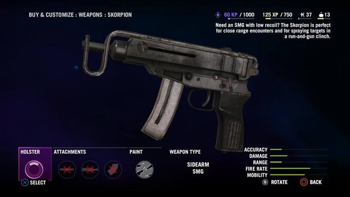 Customize as propriedades das armas (Foto: Reprodução/Thiago Barros)