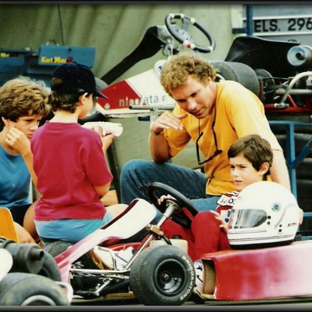 Bruno Senna no kart quando criança (Foto: Reprodução)