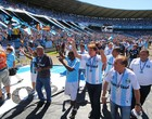 Ídolos recebem ovação antes da despedida (Lucas Uebel/Divulgação, Grêmio)