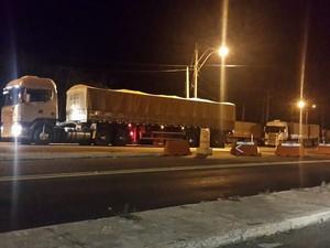 Agentes flagraram 19 caminhões com excesso de velocidade na BR-316 (Foto: PRF-PI)