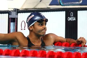 Etiene Medeiros lamenta não ir à final dos 100m costas feminino do Mundial de Kazan na Rússia (Foto: Sátiro Sodré/SSPress)