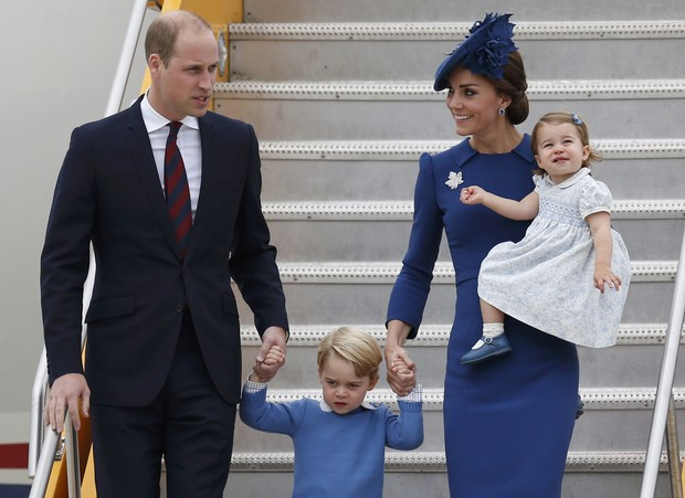 Príncipe William, Kate Middleton, Príncipe George e Princesa Charlotte (Foto: REUTERS/Chris Wattie)