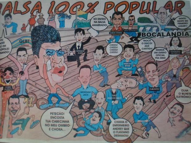 Charges após eleições são tradição nas cidades do Acre. De forma bem humorada, chargistas fazem a arte  (Foto: Raimundo Mendes/Arquivo pessoal)