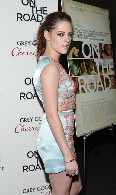 Kristen Stewart na première de 'Na Estrada' em Nova York, nos Estados Unidos (Foto: Mike Coppola/ Getty Images/ Agência)