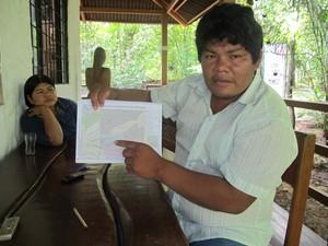 Lucas Manchineri é líder indígena que trabalha na proteção dos isolados (Foto: Genival Moura/G1 ACRE)