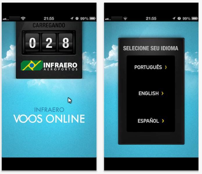 Aplicativo Infraero Voos Online (Foto: Felipe Alencar/TechTudo)