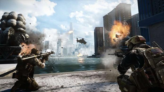 Apenas no PlayStation 4 e Xbox One o multiplayer de Battlefield 4 alcançou os PCs (Foto: gamespot.com)