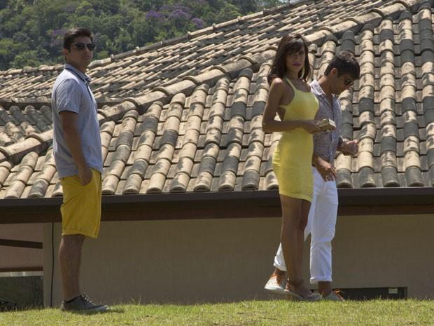 O trio mostra um pouco dos bastidores da novela. Confira no vídeo! (Foto: Adriana Garcia/Gshow)