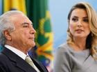 Ao lado de Marcela, Temer participa de ato de promoção de militares