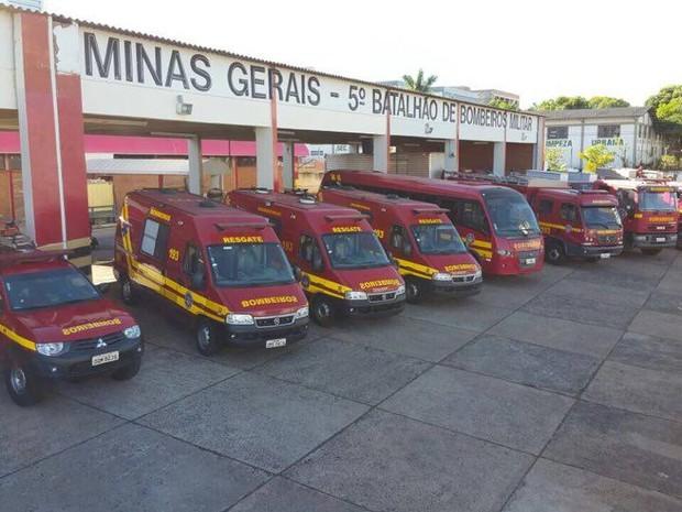 VIATURAS UBERLANDIA (Foto: Corpo de Bombeiros/Divulgação)