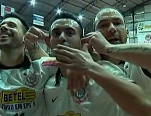 Corinthians, Futsal; Schumacher (direita) (Foto: Reprodução SporTV)