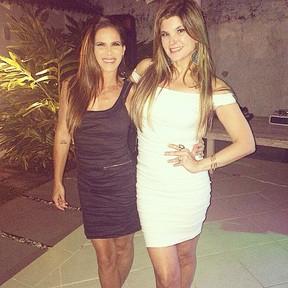 Fabiana Sá e Cristiana Oliveira em festa no Rio (Foto: Instagram/ Reprodução)