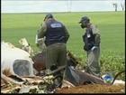 Destroços de avião que matou 5 são retirados em Cândido Mota, SP
