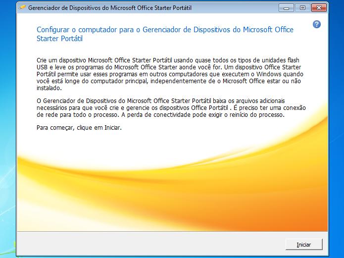 Iniciando o Gerenciado de Dispositivos do MS Office Starter Portátil (Foto: Reprodução/Edivaldo Brito)