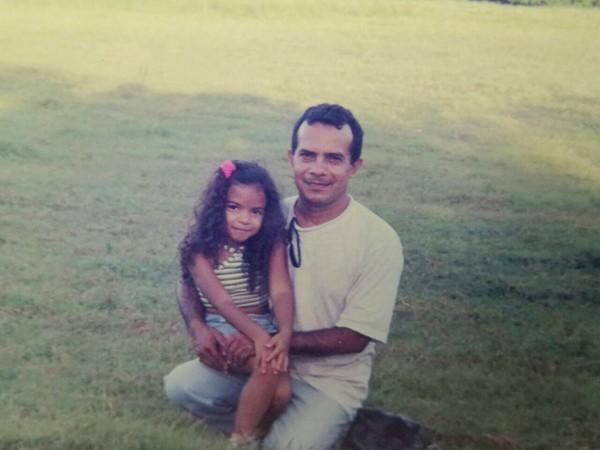 Valdeci Gomes e a filha (Foto: Arquivo Pessoal)