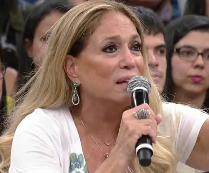 Susana Vieira elogia imitação de Tom Cavalcanti no Altas Horas (Foto: TV Globo)