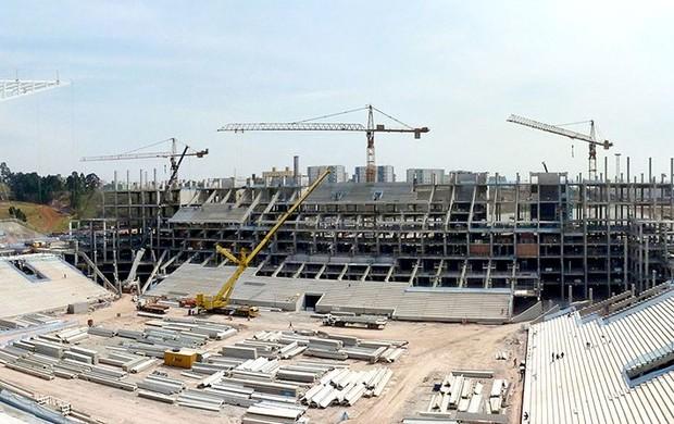obras estádio Arena São Paulo Copa do Mundo 2014 (Foto: Arena)