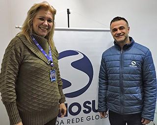 Carmem Aguiar e Marcio Correa (Foto: Dalila Lemos / TV Rio Sul)